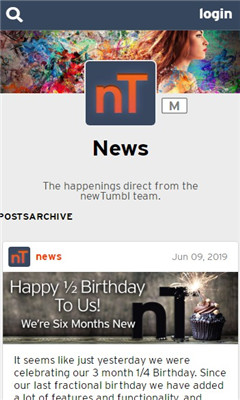newTumbl界面截图预览
