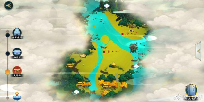 剑网3指尖江湖稻香村全地形图密闻故事情节开启地址