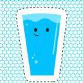 快乐的玻璃杯千杯冰