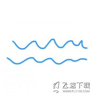 QQ画图红包海洋画法教程