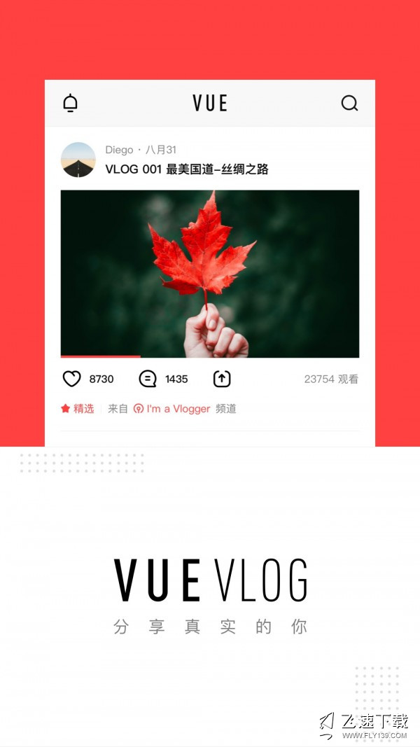 vue vlog界面截图预览